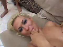 Cindy eats attractive creamy jizz