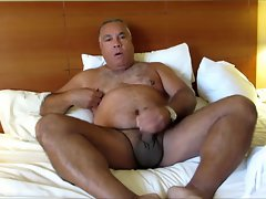 Daddy attractive in bed