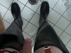Milking In Rubber Waders & Ass Plug