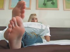 Amazing Blond with Beauteous Feet