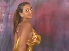 Christina Lucci Gold Dress Bounce