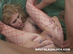 Blond loveliness devours dick and cum with her tongue and butt