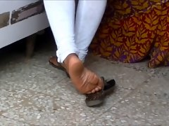 Candid sensual indian shoeplay 2