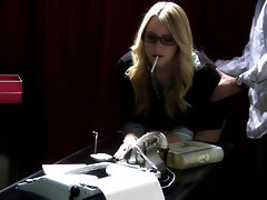 SJ Applegate smoking lewd spanking