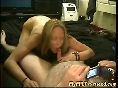 My Mum Exposed - amateur Filthy bitch fellatio her hubby's prick Point of view