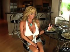 Rachel Aziani bangs herself with a big black toy