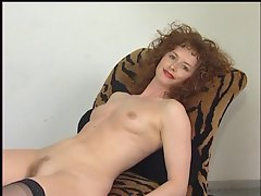 German Redhair amateuer Filthy bitch plays withe here Adult sexual object
