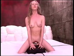 Seductive teen Fiona on a sybian