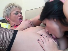 Daughter fisting her solid butch lover