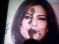 Attractive latina Eva Mendes cumshot