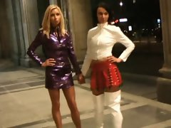 Inga and Olesia in sensual outfits pvc