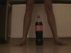 Fallen angel and coke 2 liter bottle