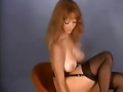 Striptease Displays From The 80's Show Slutty chicks Taking It Off