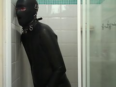Rubber Catsuit, Waders and Bum Plug