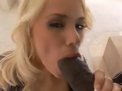 Big boobed blond bimbo gets a BBC workout