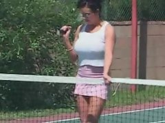 Obscene Cougar Angelina Eats The Tennis Coach Butt