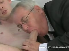 Fatty Daddy Strokes And Bangs Slim Admirer