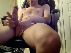 Thin Twink. Huge Cock. Massive Load. New Year's 2014