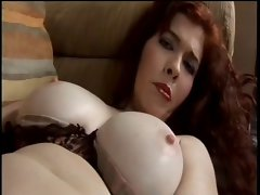 Slutty girl Toys With Muff And Cums Rough On Couch