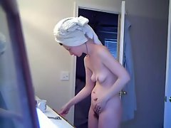 18 years old Shaggy Slutty wife After Shower