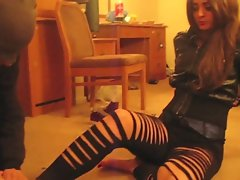Mistress Nia - randy indian femdom sneakers trampling foot worship