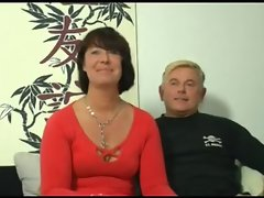 Attractive Mama 155 dark haired german seductive mom in triple