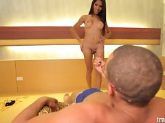 Asian ladyboy Tip loves herself a enormous dick