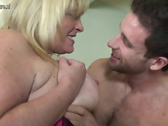 Plumper Grandma fucked by her grandson s friend