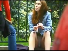Spying Upskirt Young lady in French Street BVR
