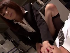 japan secreter footjobs whit nylon socks