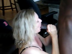 Licking bbc for Hubby