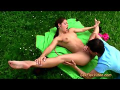 tempting flexi contortionist shagging in nature