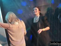 Dripping party lesbos fingering quims