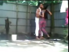 19 years old Shameless Bengali Couple Doing Open Air Grinding