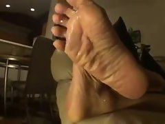 Experienced Wrinkled Soles On The Sofa