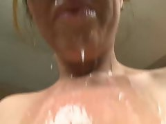 Filthy bitch Mother in law Sloppy Blowjob... IT4