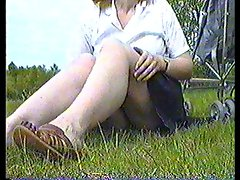 Dirty wife Upskirt Exposing Panties at Public Park Part 2