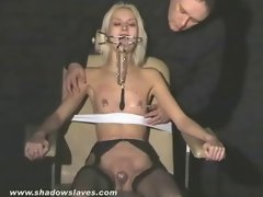 Tempting blonde bondage young lady Wynter tortured and humiliated