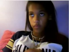 lewd black saucy teen on cam