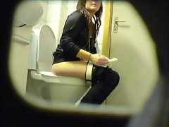 Heavy amateur saucy teen toilet muff naughty ass hidden spy cam voyeur