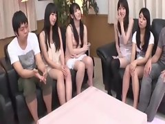 Uncensored Sensual japanese shaving session before orgy