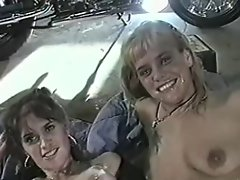 Biker Gangbang in Garage