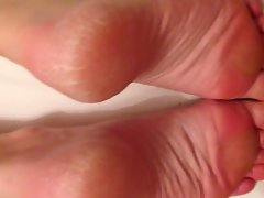 Cuming over my Wife's sexual feet 5