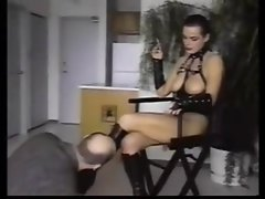 Aged Mistress uses oral slave for enjoyment