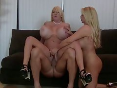 Big Big titted Crazy threesome action Fuck
