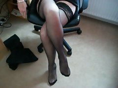 luscious attractive mature legs and feet