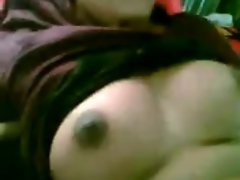 Northindian Aunty Show her Big titted Hooters and Muff to BF