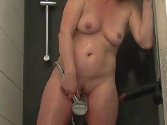 First masturbation and orgasm shower vid of me and my slutty wife