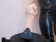 rubber fist banging wild - using a new stand to ruin my dirty ass