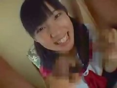 Tempting chesty jap young woman playing part 2